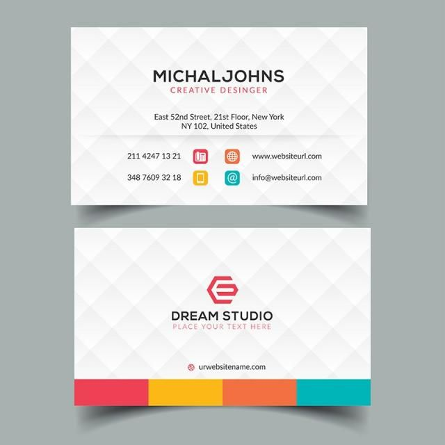 Corporate Business Card Eps Template Visiting Card Design