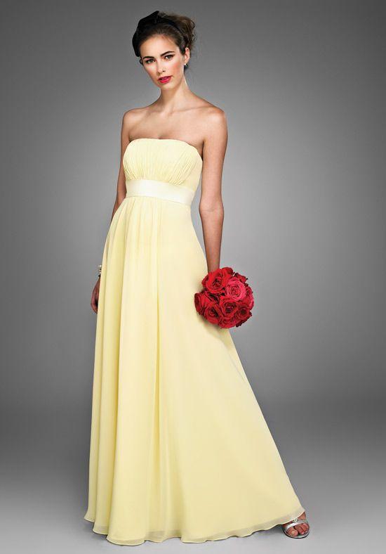 Pastel yellow chiffon dress