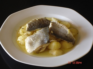 This is a simple Greek fish recipe, which is a speciality from Corfu.