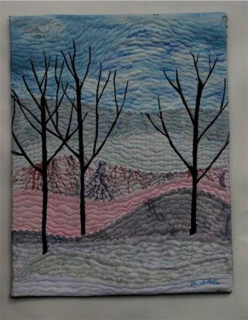 Super impressive- winter landscape quilt