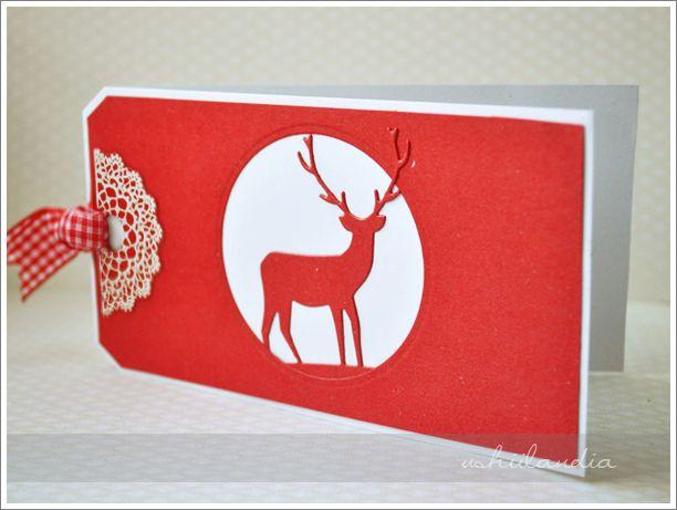 boże narodzenie kartki świąteczne - scrapbooking ushii