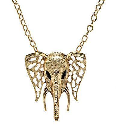 Anna & Ava Elephant Bib Necklace - $25