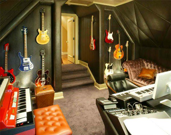 15 design ideas for home music rooms and studios - Home Music Studio Design Ideas