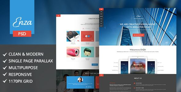 Enza   Multi-Purpose Parallax PSD Landing Page