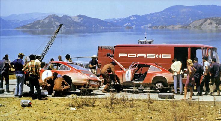 Team Porsche Rally Acropolis 1969