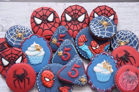 (6) Maybe a Cookie - Spider-Man birthday cookies Urodzinowe...