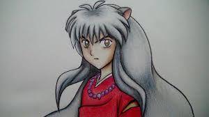 Resultado de imagen de inuyasha dibujo a lapiz