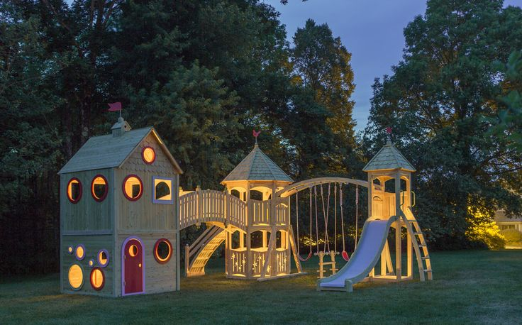 CedarWorks Outdoor Playhouse 769 show how pretty a playhouse and a playset can be.