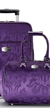 Purple luggage....I would never have to sort through all the black luggage on the turnstile again! More