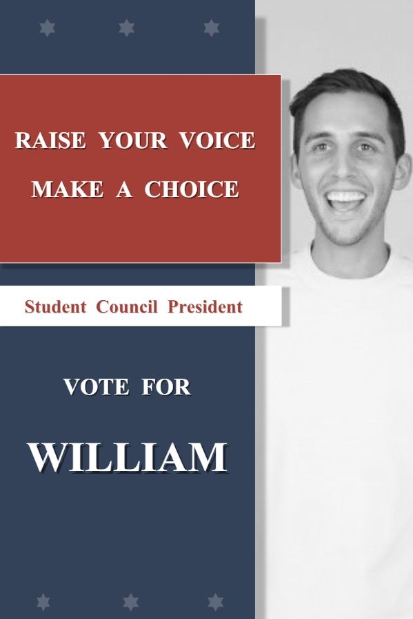 school student council election poster template