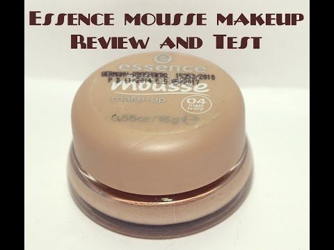 Essence mousse makeup Foundation Review and test | ايسنس موس ميكب رأيى فيه و اختبار لطول المده - YouTube
