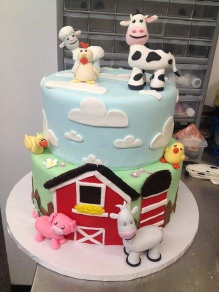 Barnyard cake  Cake by CakesByJackie
