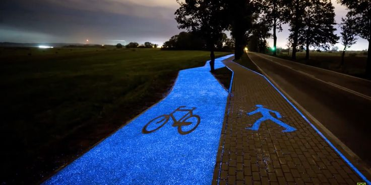 This Glow-In-The-Dark Bike Path Is Powered By The Sun | Huffington Post