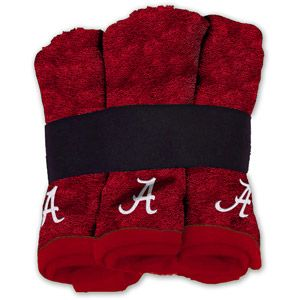 NCAA Alabama Crimson Tide Wash Cloth Set, 6pk