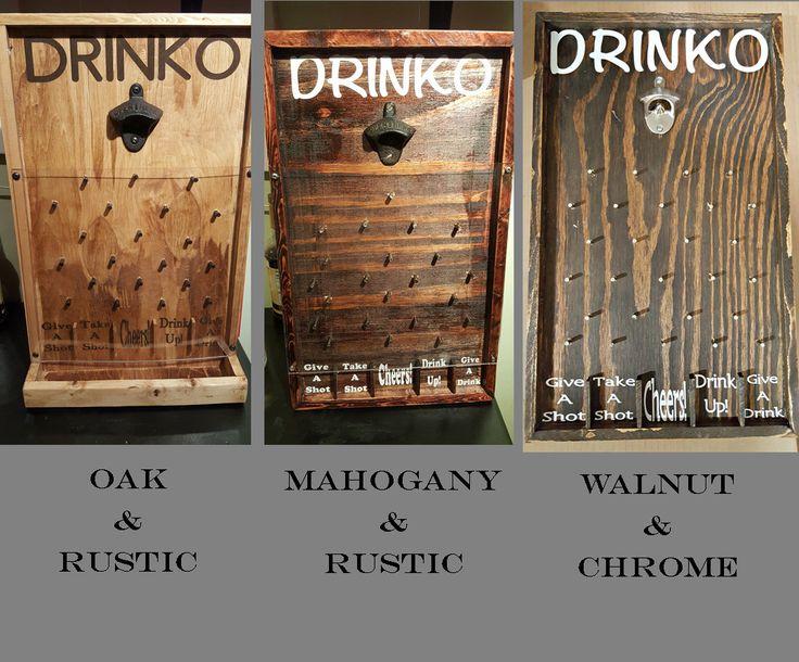 Fügen Sie ein wenig Spaß und Laune, mit Trink-Version des Spiels Plinko. Dies wird eine große Bereicherung für Ihre Bar, Spielzimmer, oder Mann Höhle!  Artikel abgebildet ist fertig mit rot Mahagoni färben und rustikalen Flaschenöffner, aber auch in Walnuss, Eiche und Ebenholz Ausführungen erhältlich. Chrom-Flaschenöffner und Pins auch zur Verfügung. Wählen Sie Ihre Fleck und Opener Präferenz während der Kaufabwicklung.  Mit langlebigen Plexiglas gefertigt und misst ca. 21 X 13…