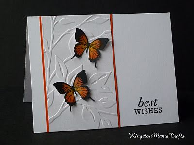 leaves and butterflies...not crazy about the colors, but i really like the one embossed section