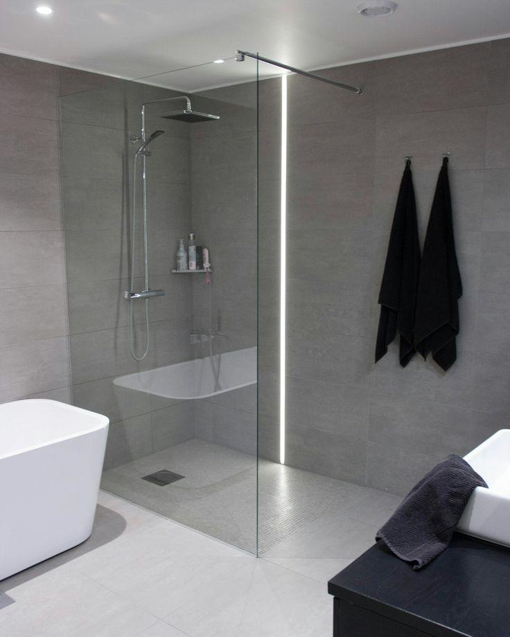 My bathroom with fantastic LED-light.  Vikingbad and Svedberg.