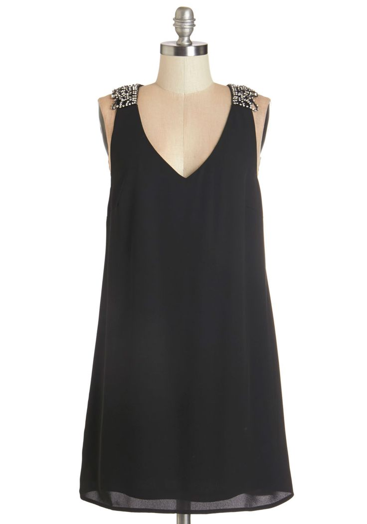 More to Love Dress. You appreciate a good LBD, but this black shift dress offers more than the average frock. #black #modcloth