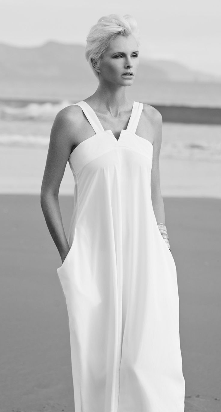 Paula Ryan Reversible Long Strappy Dress. Be cool and chic in the versatile Reversible Long Strappy Dress in Fresco Rayon.
