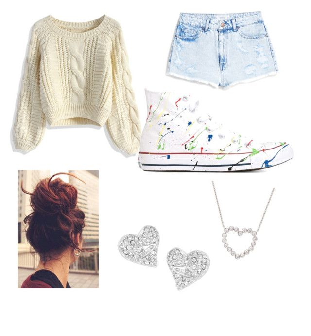 """""""No effort"""" by tohot4u on Polyvore featuring Chicwish, Converse, MANGO, Tiffany & Co., Vivienne Westwood, women's clothing, women's fashion, women, female and woman"""