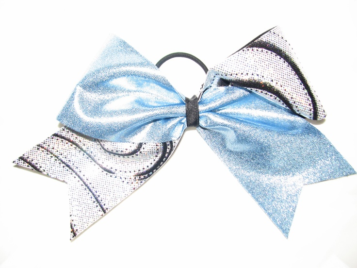 Baby Blue Mystique Cheer Bow  #cheer #cheerbow