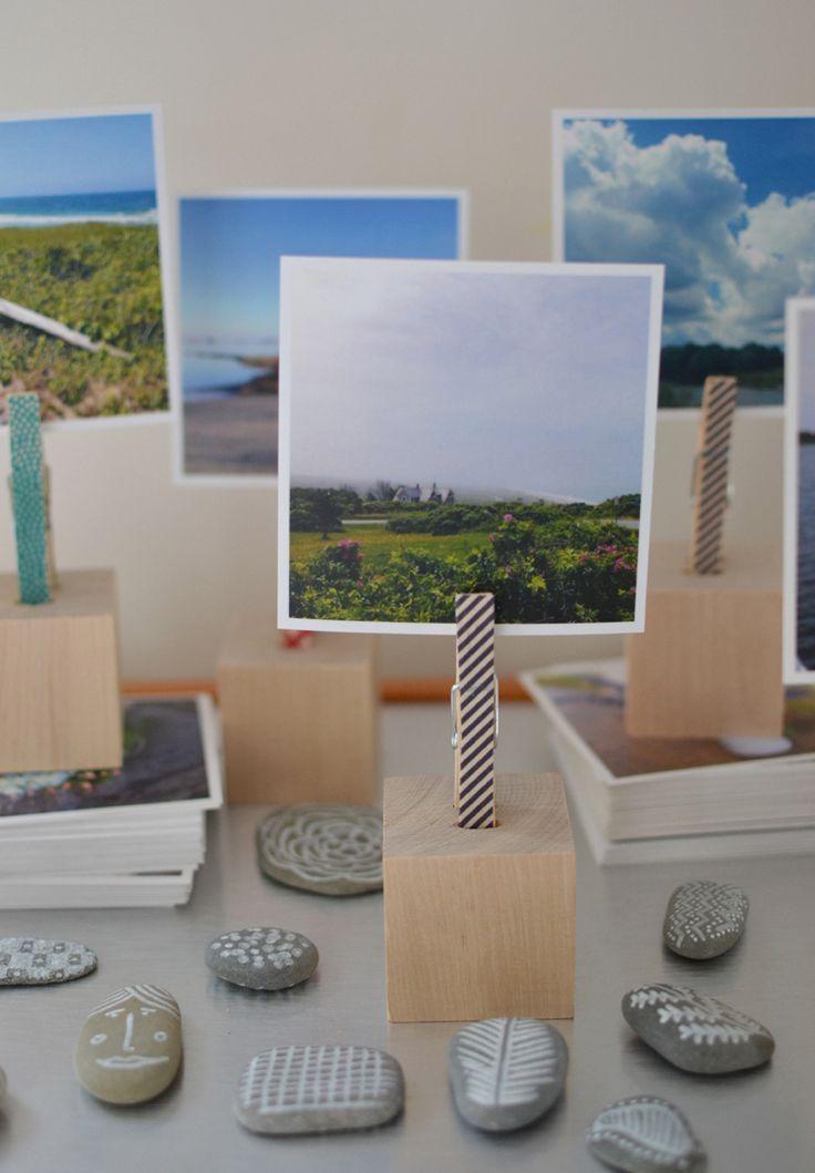 make: wooden block photo holders | @artbarblog