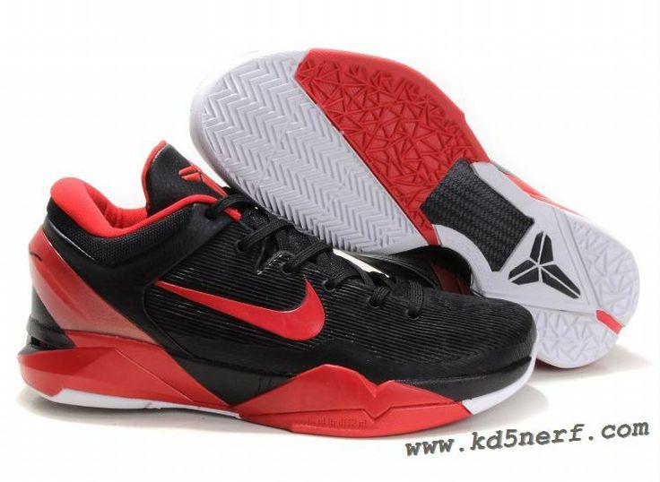 Nike Zoom Kobe 7 Shoes Black Varsity Red White