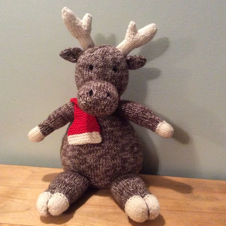 Moose Knitting Pattern : How to Knit a Cuddly Moose The ojays, Pipes and Patterns