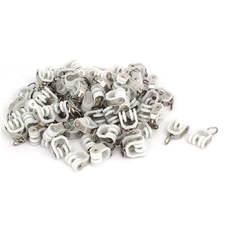 Unique BargainsHome Window Plastic Curtain Track Rail Carrier Roller 12mm Dia Wheel 80pcs, Grey metal