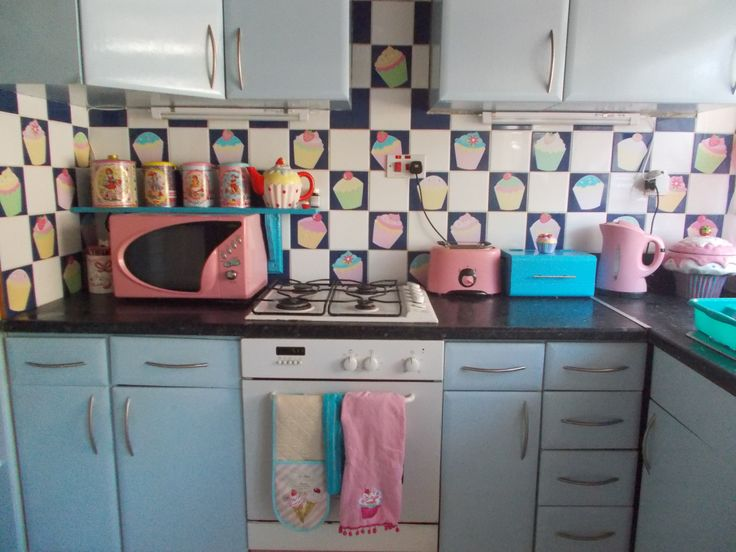 Cupcake Kitchen Back Splash To Hide Ugly Tiles Stickers
