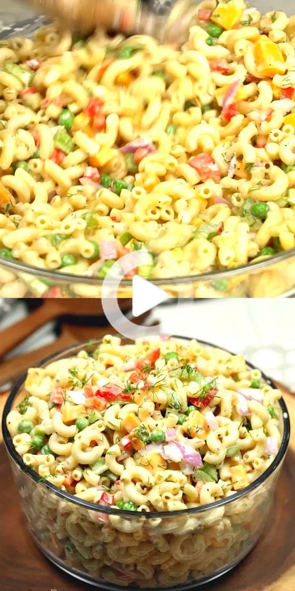 Cette recette de salade facile Macaroni est le plat d ...