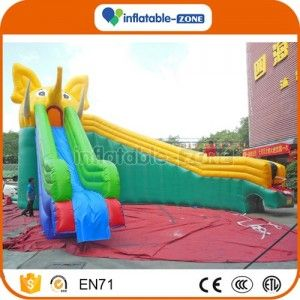 Inflatable Zone TM inflatable elephant water slide,Trampoline slide inflatable climbing wall water park slides for sale