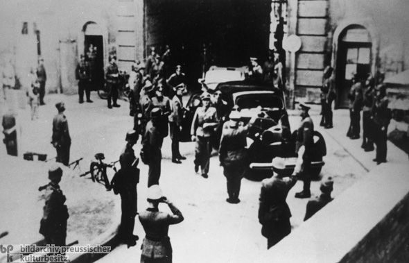 SS Units Seize the Headquarters of the Conspiracy against Hitler (July 21, 1944) Stauffenberg and his co-conspirators hoped that news of Hitler's death would prompt those officials to join them in overthrowing the Nazi regime. Sadly this attempt failed and all were shot