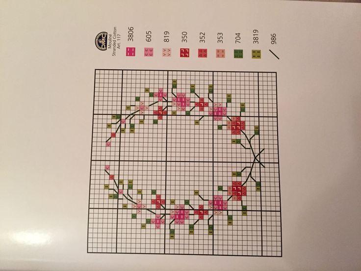 Mini çiçekler kanaviçe