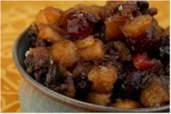 Homemade Mincemeat is a spicy sweet preserve consisting of a mixture or dried and candied fruits, apples, and spices that are heavily laced with brandy or rum. From Joyofbaking.com With Demo Video