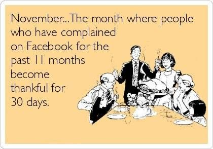 Facebook Humor | #thanksgiving #ecard For more Thanksgiving Ecards visit my Ecard of the Day board. Th\anks & Happy Thanksgiving,