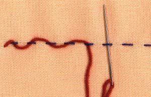 threaded running stitch