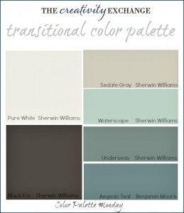 Transitional Paint Color Palette {Color Palette Monday #3} The Creativity Exchange