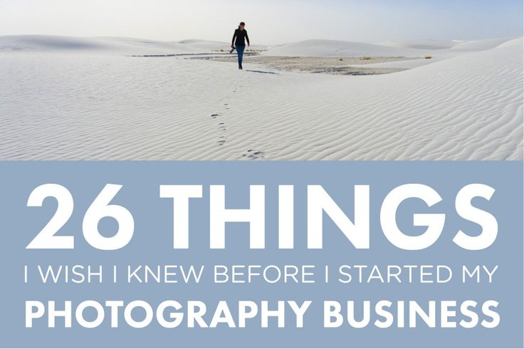 26 Things I Wish I'd Known Before Starting My Photography Business // Part 1 (via photographyconcentrate.com)