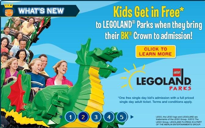 Legoland coupon free child ticket california