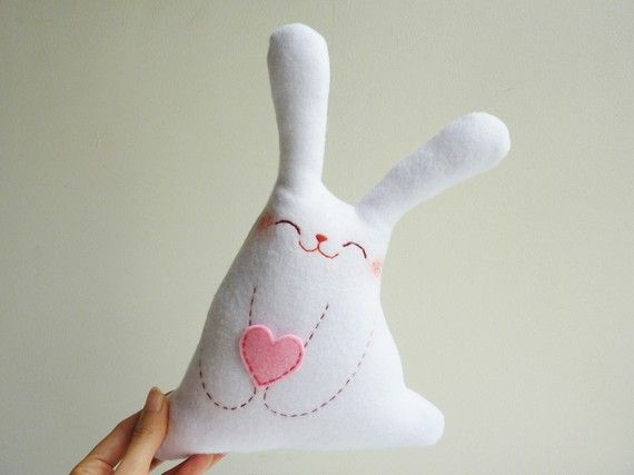 Bunny Plush  Roro with love  by dancingintherains on Etsy