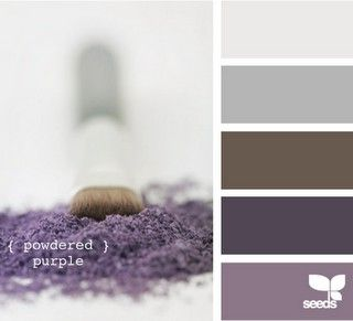 Purple and gray for Master bedroom!!! Both masc and fem. Love it!