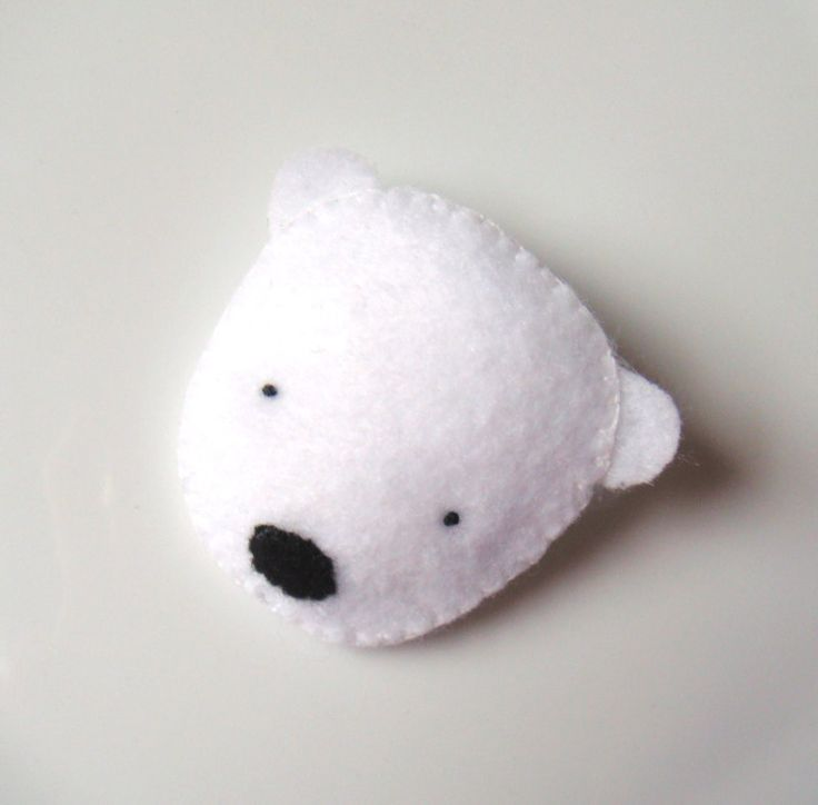 Felt Brooch Cute Polar Bear Handmade Brooch $9.99, via Etsy.