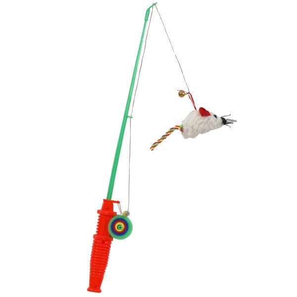 Toyshoppe fishing rod amp reel cat toyjpg 600x600 toy for Cat fishing pole