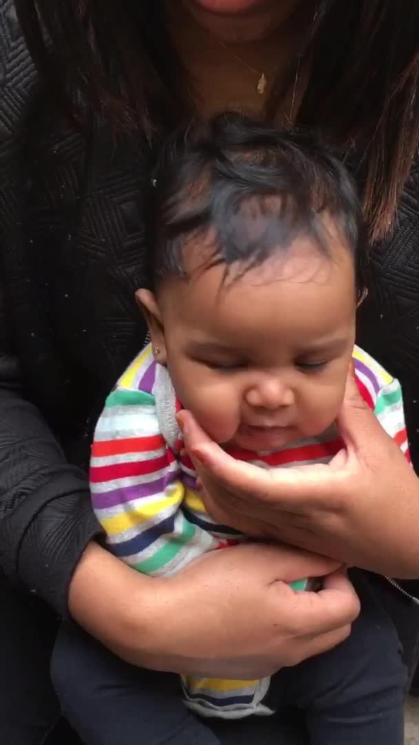 cool Baby Gets Ears Pierced