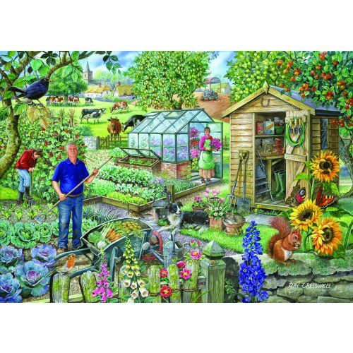 At The Allotment - Extra Large Jigsaw Puzzle from Jigsaw Puzzles Direct - Order today and Get Free Delivery