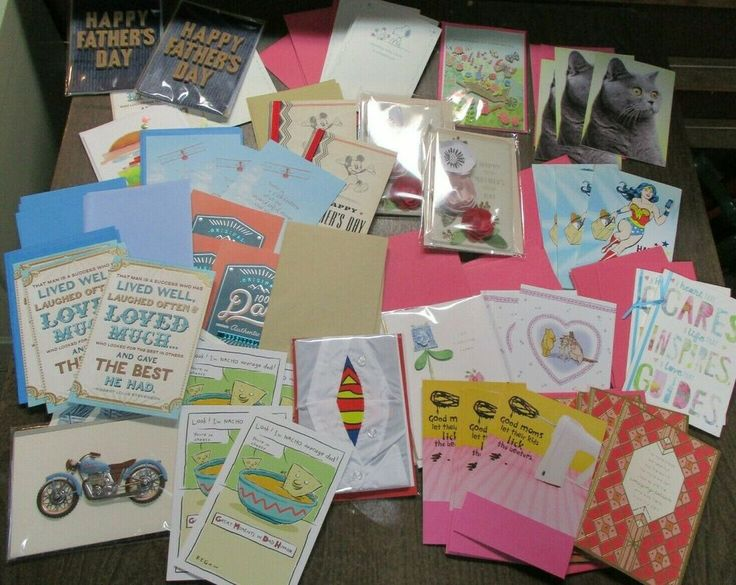 Mother's Day and Father's Day Cards New Unused Lot Shoebox This Years Shelf Pull…