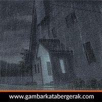 DP BBM Bergerak Hujan Malam Hari depan rumah