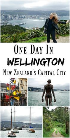 PIN FOR LATER: One day in Wellington, New Zealand's Capital City. Known as 'Windy Welly', I definitely found out just how windy it is on my visit. Perfect for a stopover, you can see most of the city within a day, including Mount Victoria, Oriental Beach, Cuba Street, and the museums!