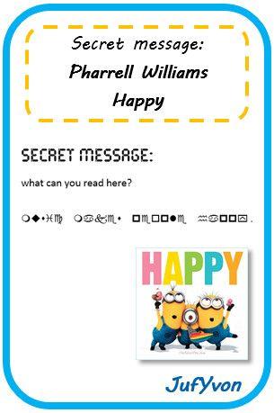 ©JufYvon: Secret message - Muziek in de Engels les!